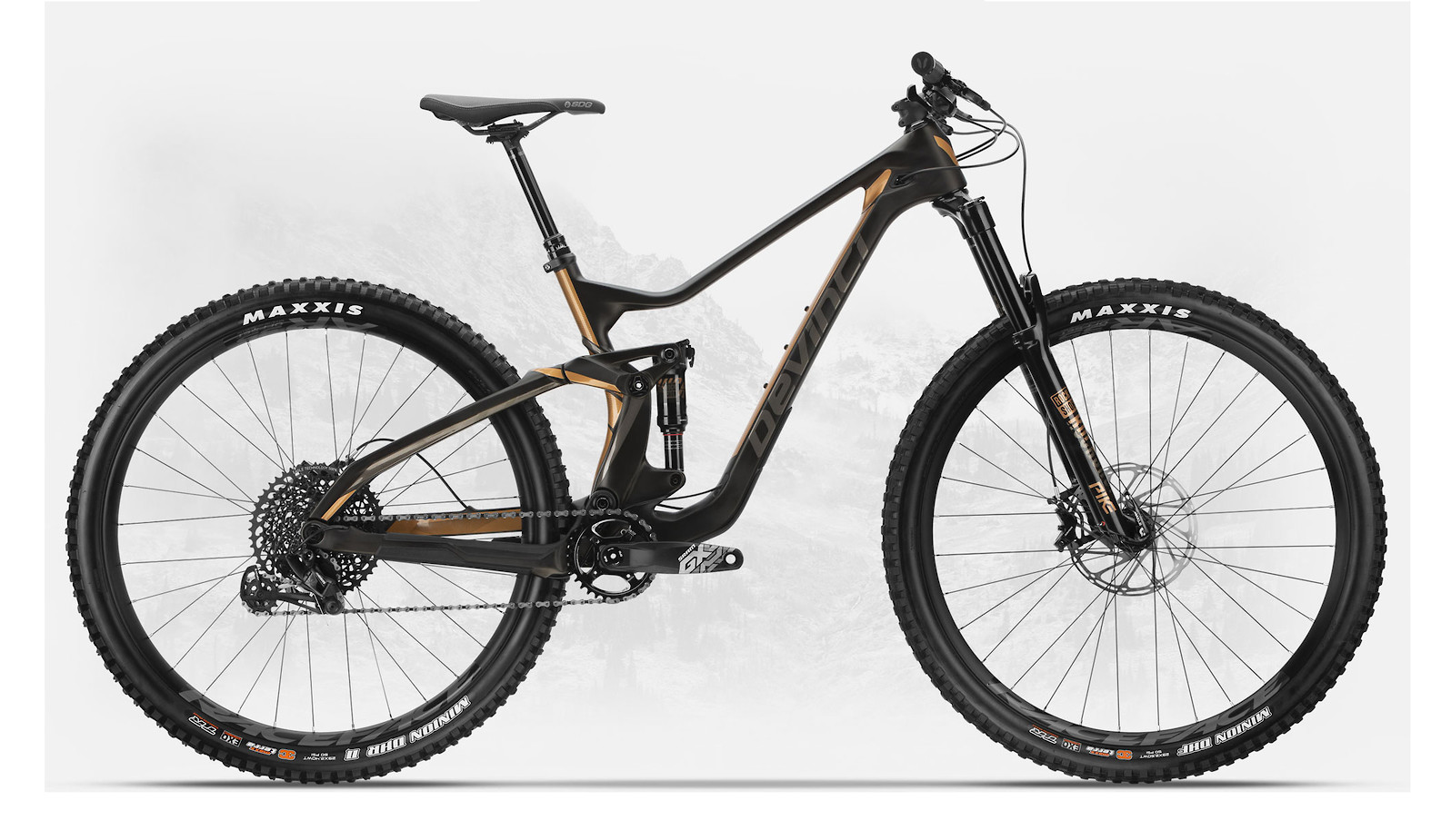2019 Devinci Troy Carbon 29 GX Eagle LTD Matte Black/Bronze