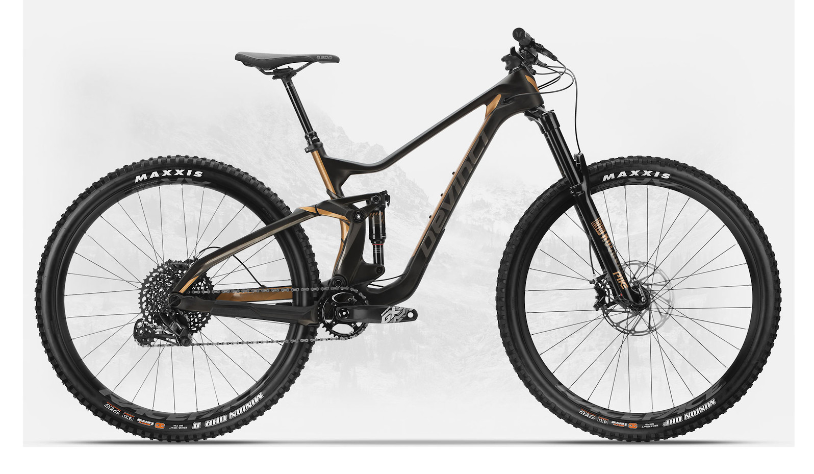 2019 Devinci Troy Carbon 29 GX Eagle Matte Black/Bronze