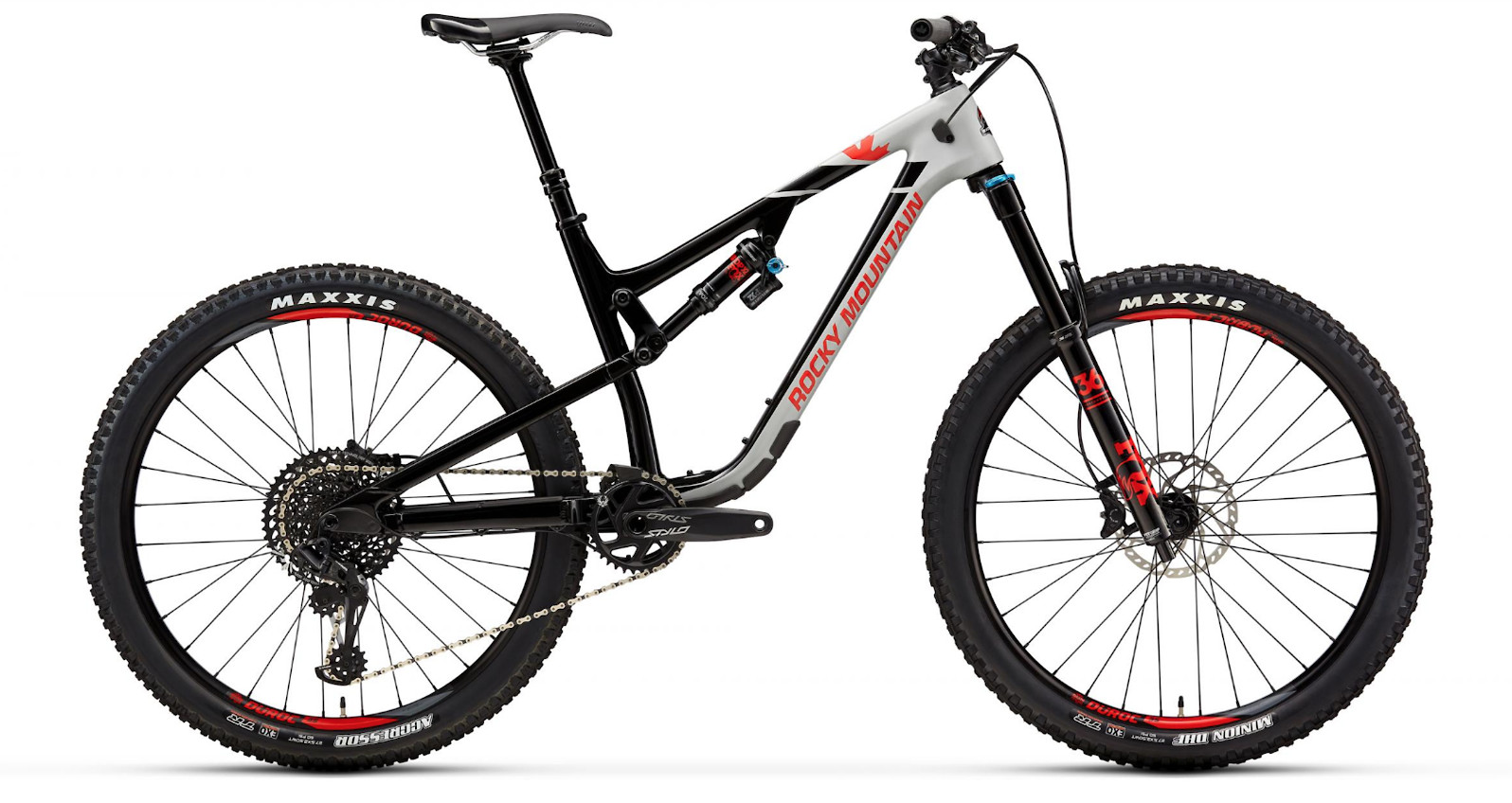 2019 Rocky Mountain Altitude Carbon 50 - Gray, black, and red