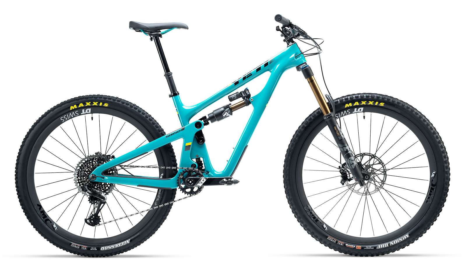 2019 Yeti SB150 (Turquoise) - shown with X01 Race kit