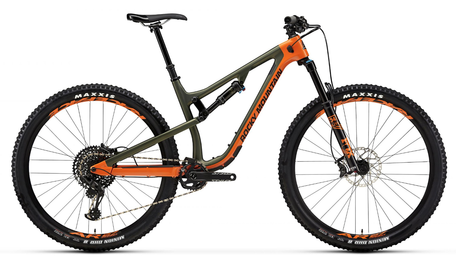 2019 Rocky Mountain Instinct Carbon 70 - Orange and green