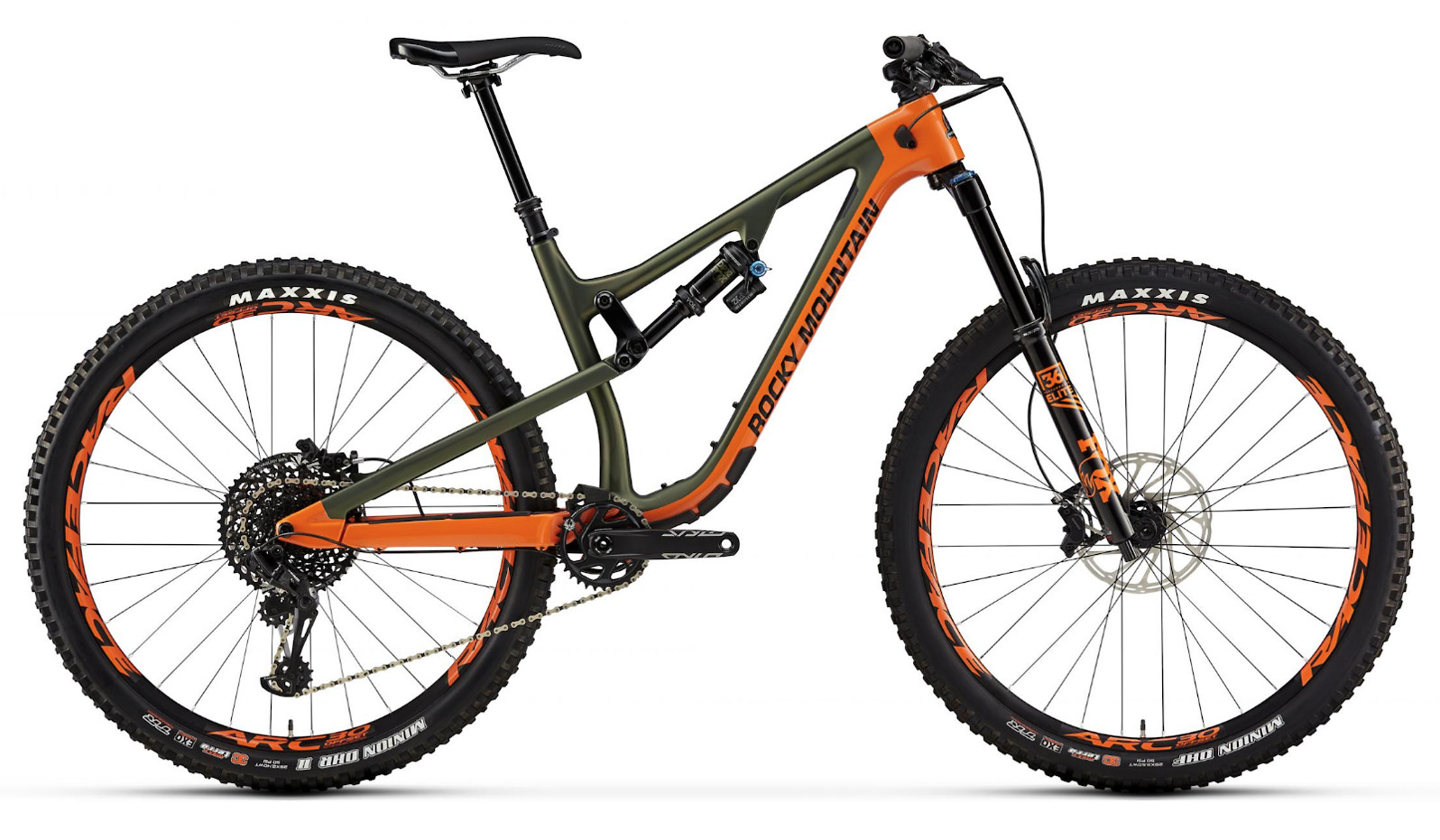 2019 Rocky Mountain Instinct Carbon 90 BC Edition - Army green and orange