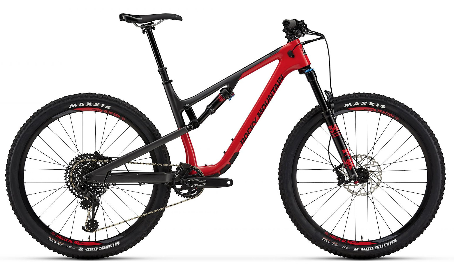 2019 Rocky Mountain Thunderbolt Carbon 50 - Red and gray