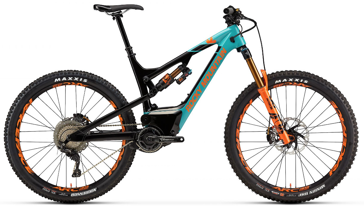 2019 Rocky Mountain Altitude Powerplay Carbon 90 Rally Edition - Turquoise and orange