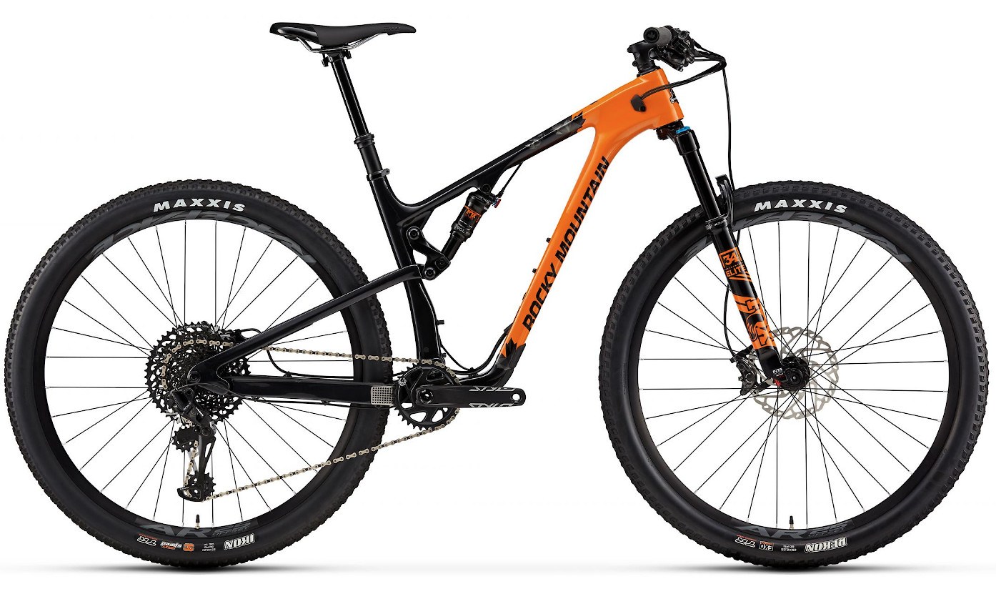 2019 Rocky Mountain Element Carbon 70 - Orange and black
