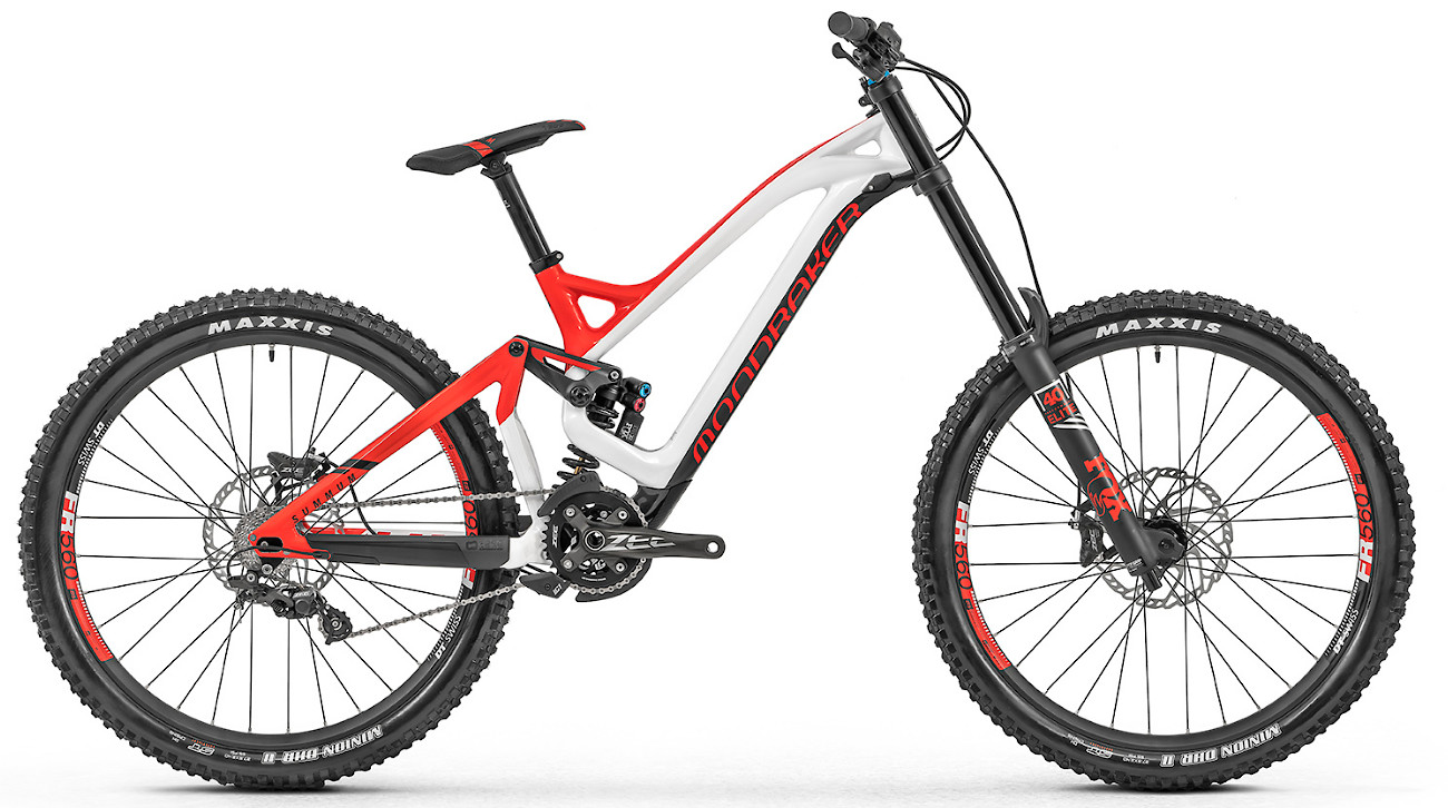 2019 Mondraker Summum Carbon Pro - White and red