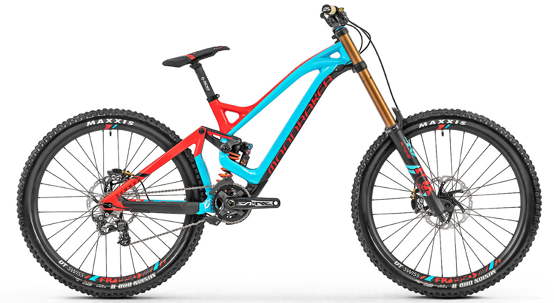 2019 Mondraker Summum Carbon Pro Team - Blue and red