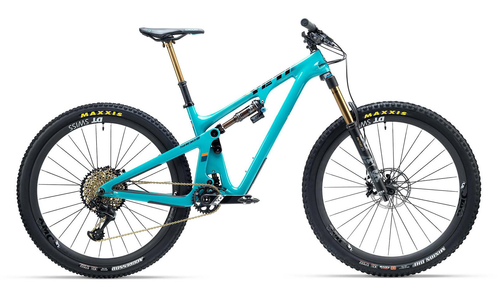 2019 Yeti SB130 Turquoise - Shown with XX1 kit
