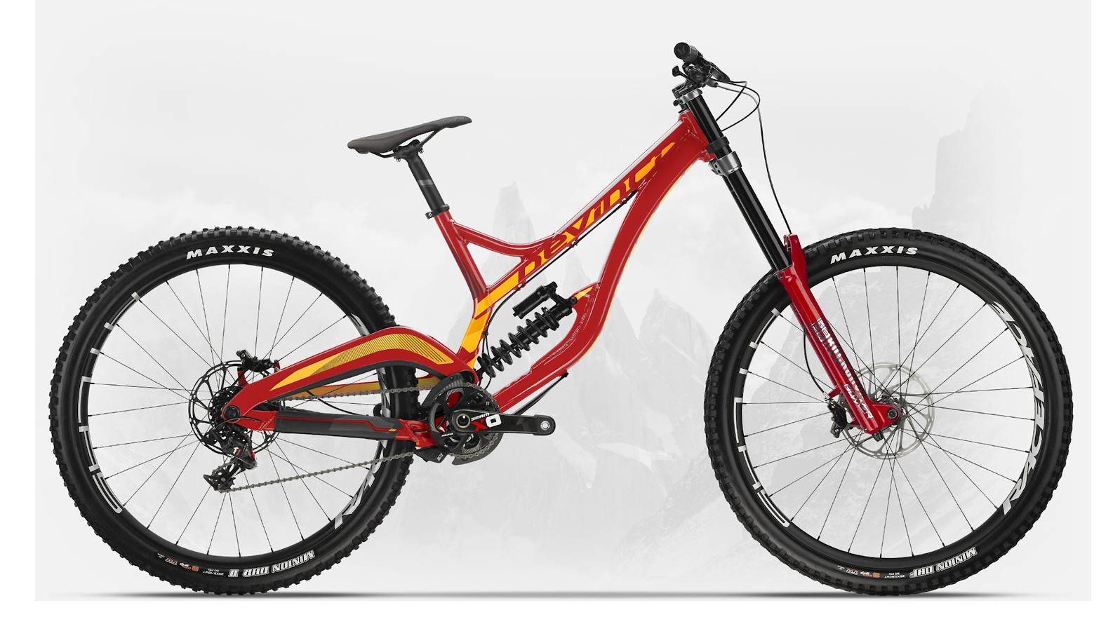 2019 Devinci Wilson 29 X01 DH Gloss Red/Orange