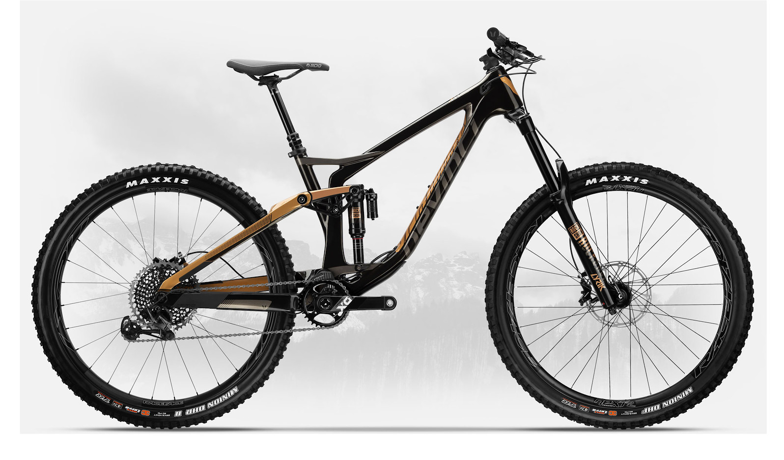2019 Devinci Spartan Carbon 27 X01 Eagle Gloss Black/Bronze
