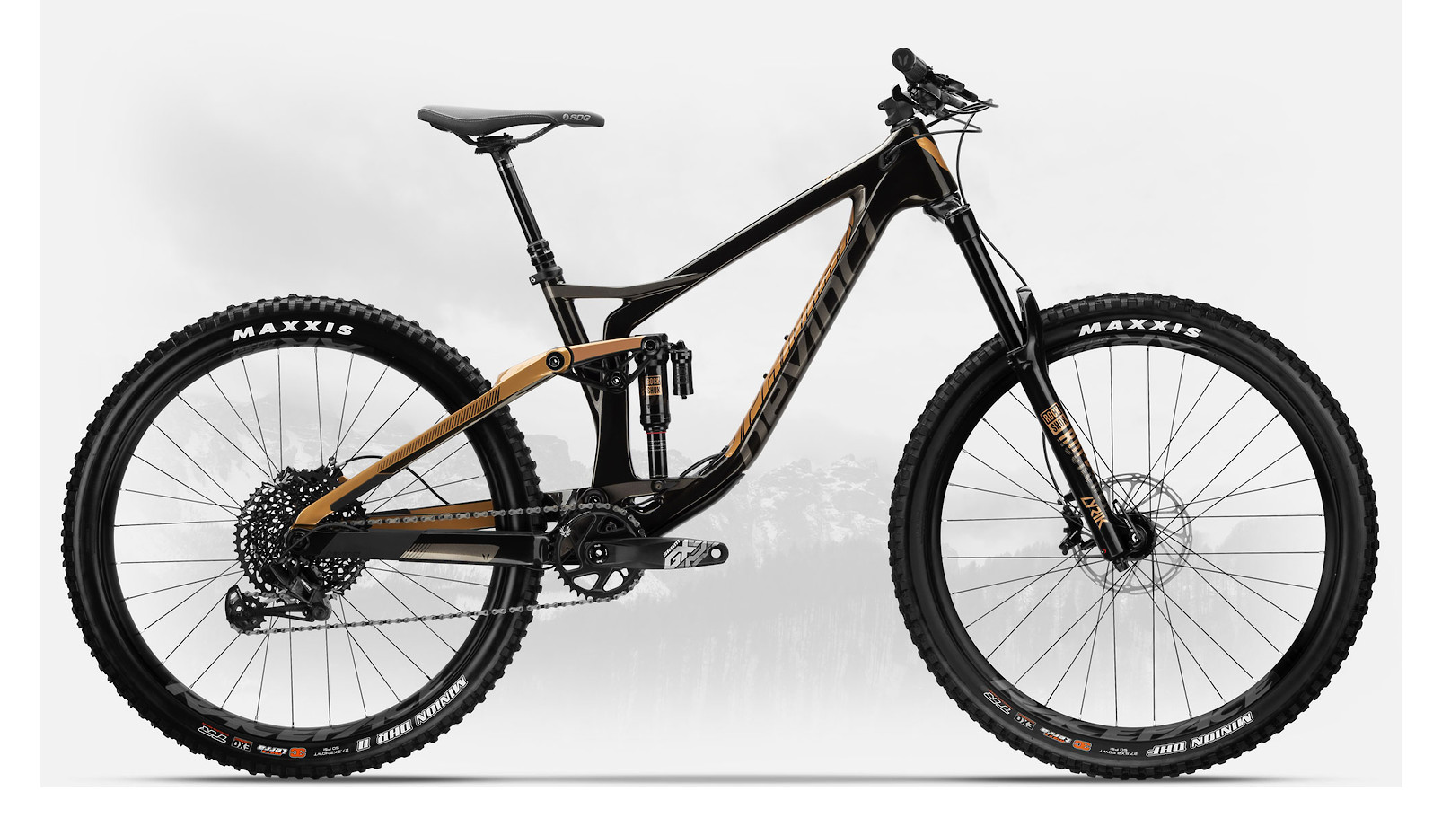 2019 Devinci Spartan Carbon 27 GX Eagle LTD Gloss Black/Bronze