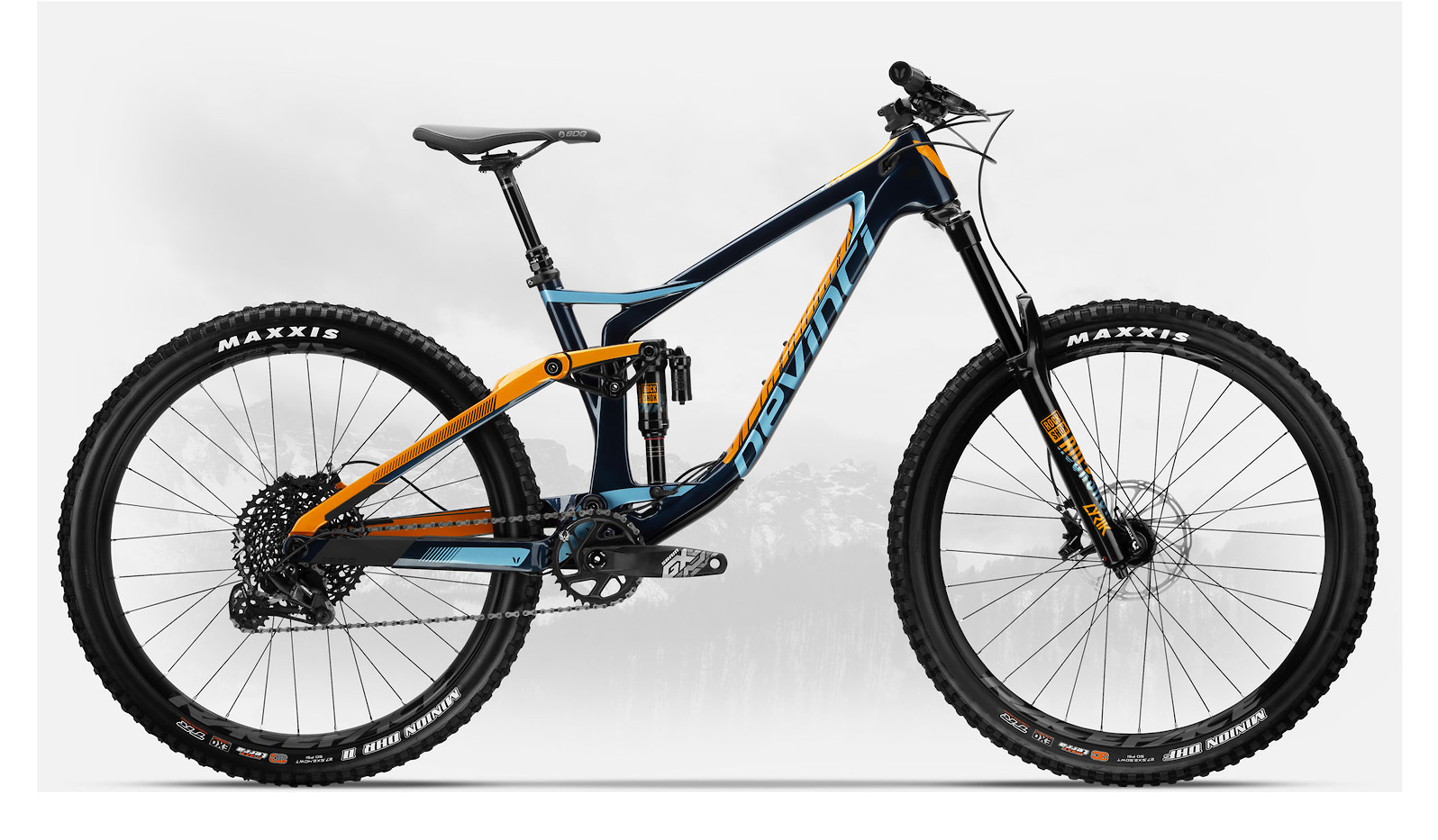2019 Devinci Spartan Carbon 27 GX Eagle Gloss Navy/Orange