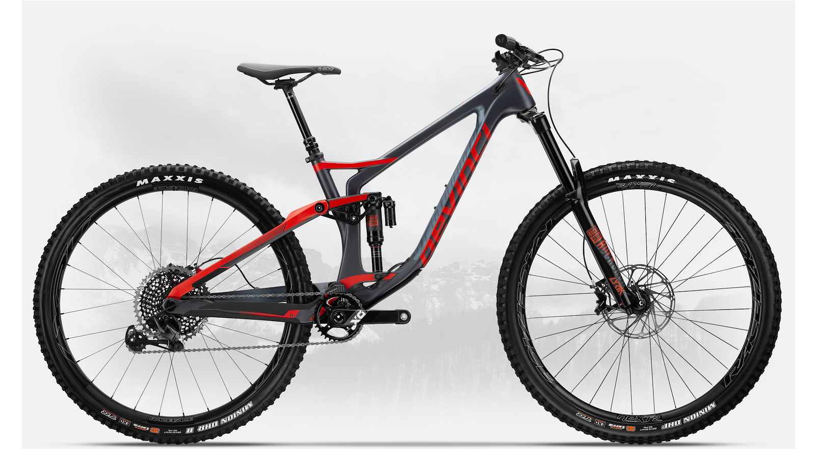 2019 Devinci Spartan Carbon 29 X01 Eagle Matte Tectonic/Red