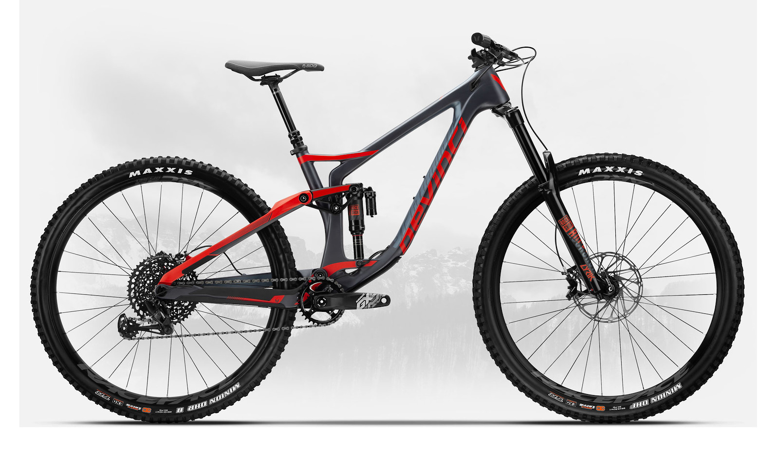 2019 Devinci Spartan Carbon 29 GX Eagle LTD Matte Tectonic/Red