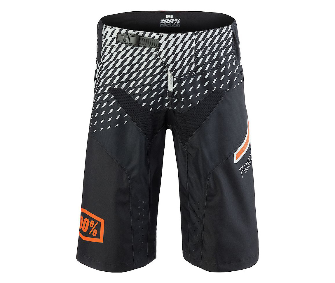 100% R-Core DH Short (supra black/grey)