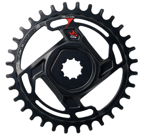 Direct Mount 1x chainring with ChainFlow 3D technology