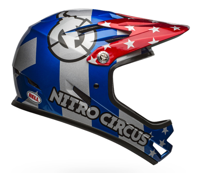 2019 Bell Sanction (Nitro Circus Gloss Silver/Blue/Red)