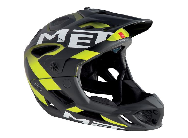 MET Parachute Helmet (2018 Black Shaded Safety Yellow/Matte)