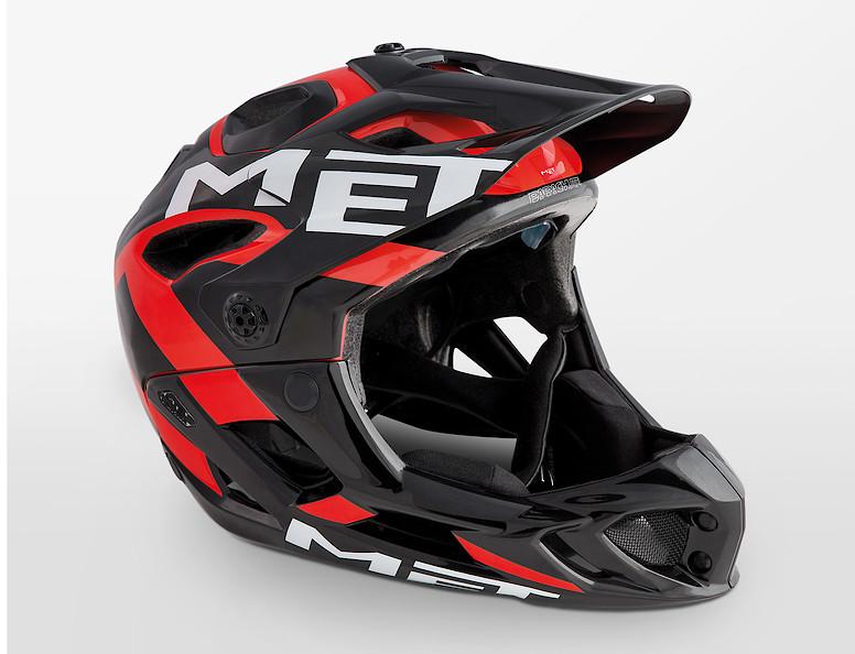 MET Parachute Helmet (2019 Black Red/Glossy)