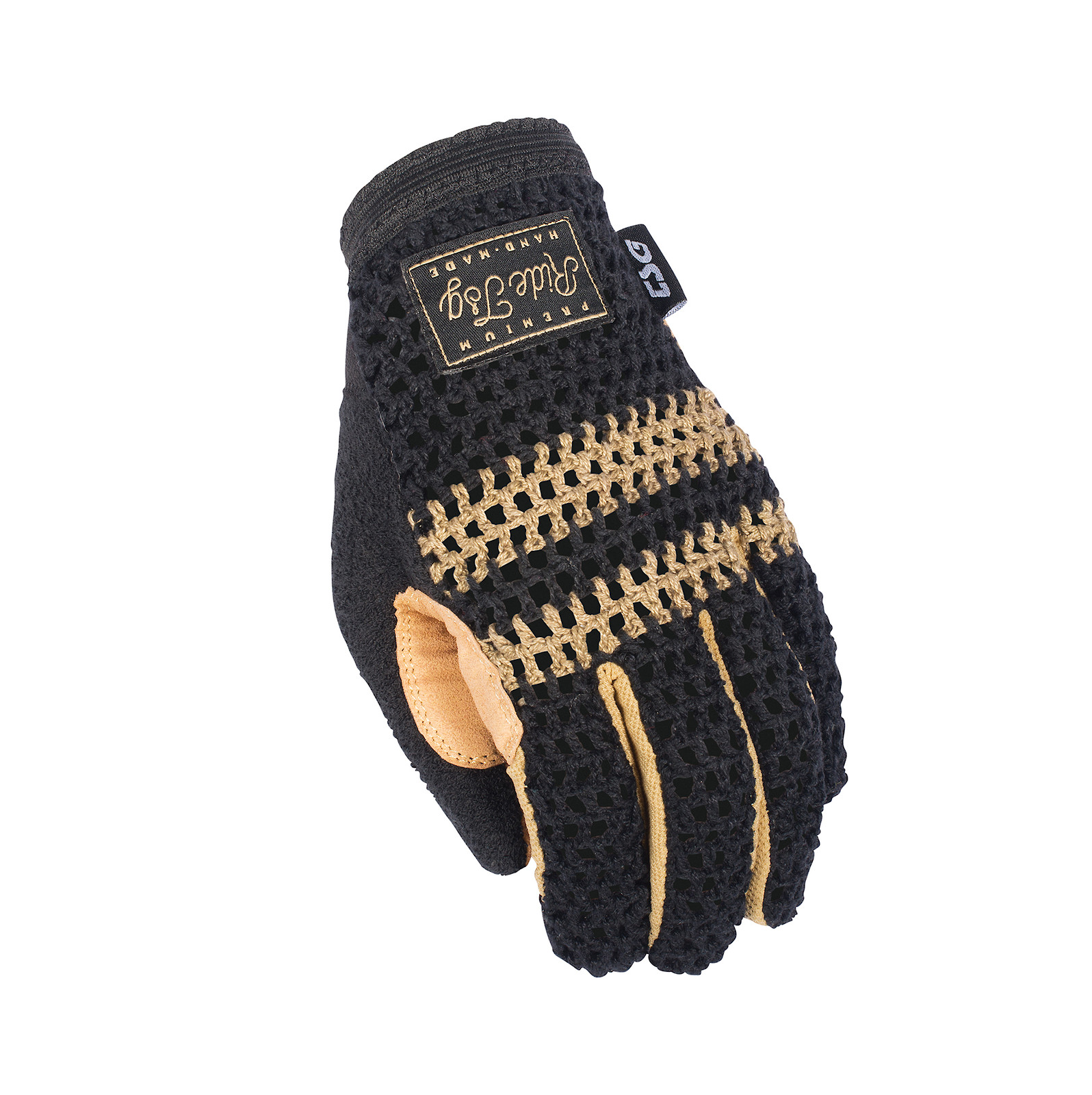 TSG Slim Knit Glove Black-Beige
