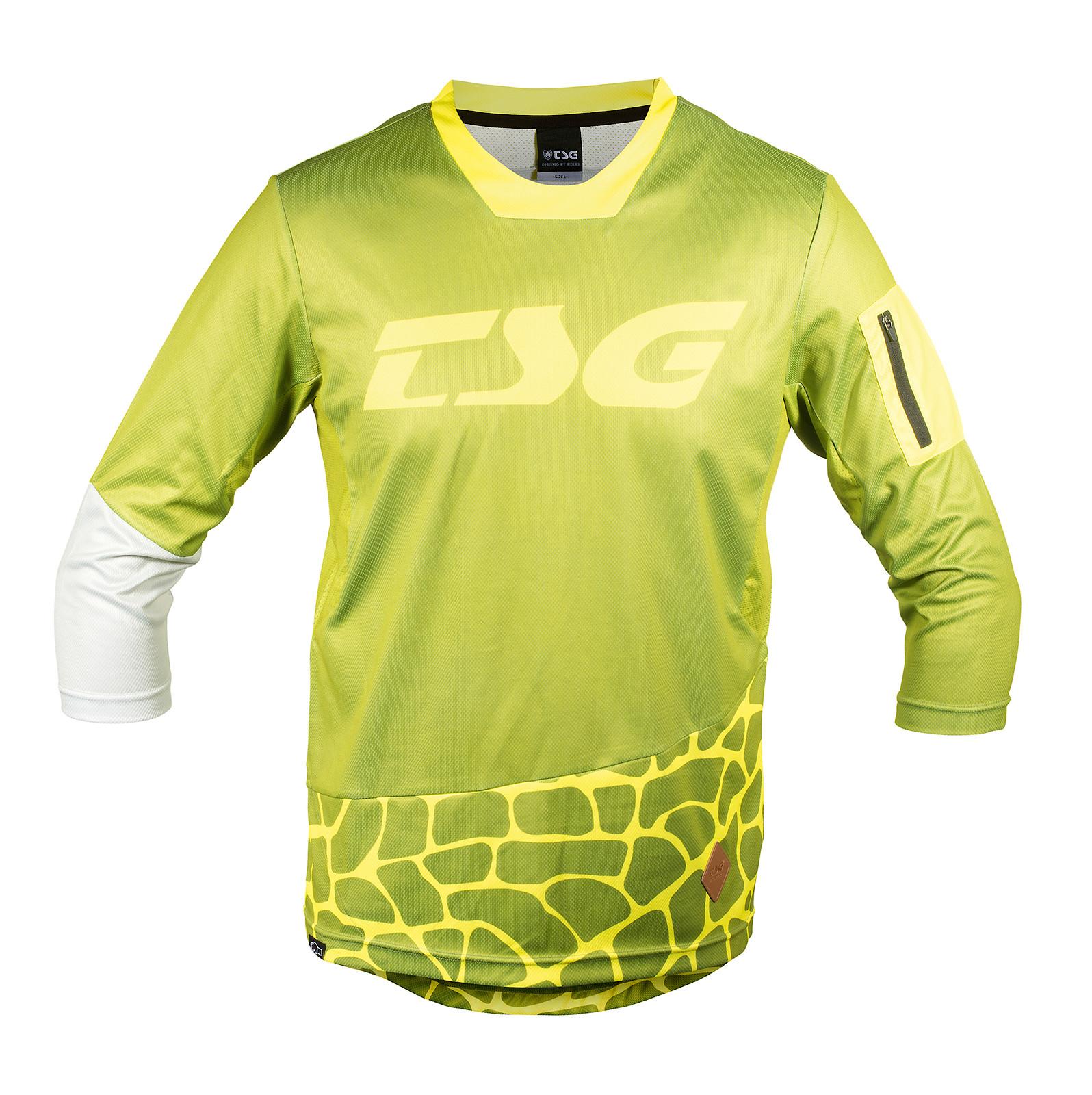 TSG AK3 L/S Jersey Olive-Yellow