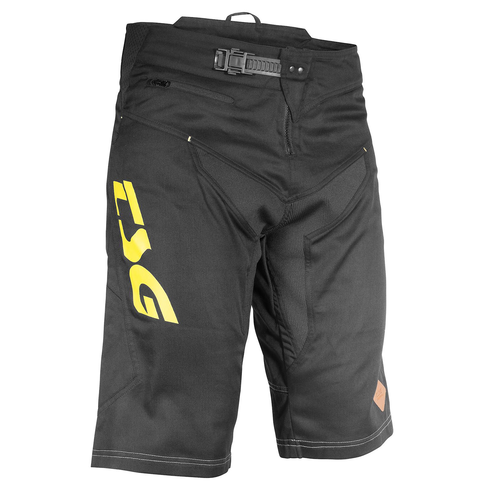 TSG AK3 Bike Shorts Black-Yellow