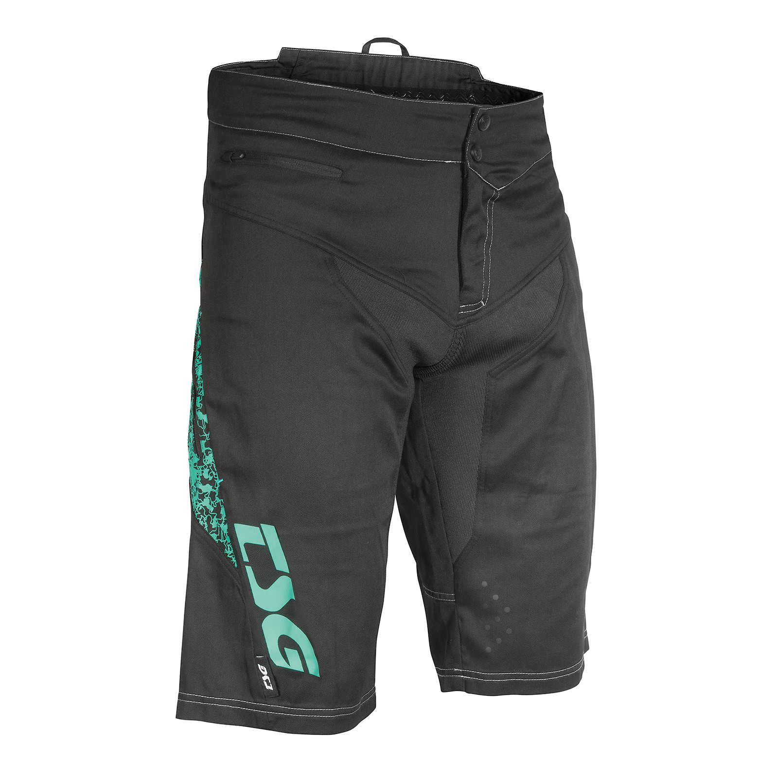 TSG MJ2 Bike Shorts Black-Turqouise