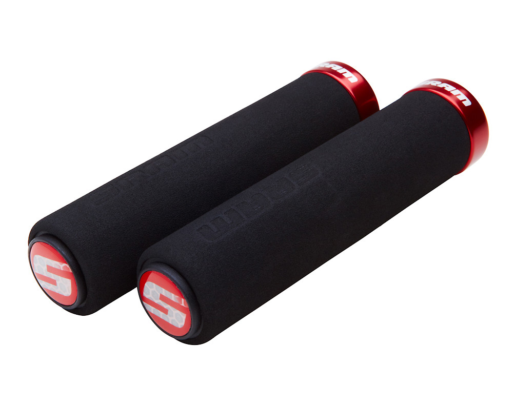 SRAM Locking Foam Grip (black/red)