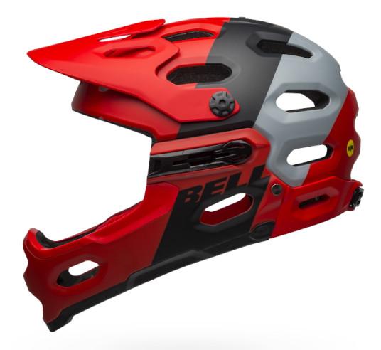 Bell Super 3R MIPS Helmet (Downdraft Matte Crimson/Black)