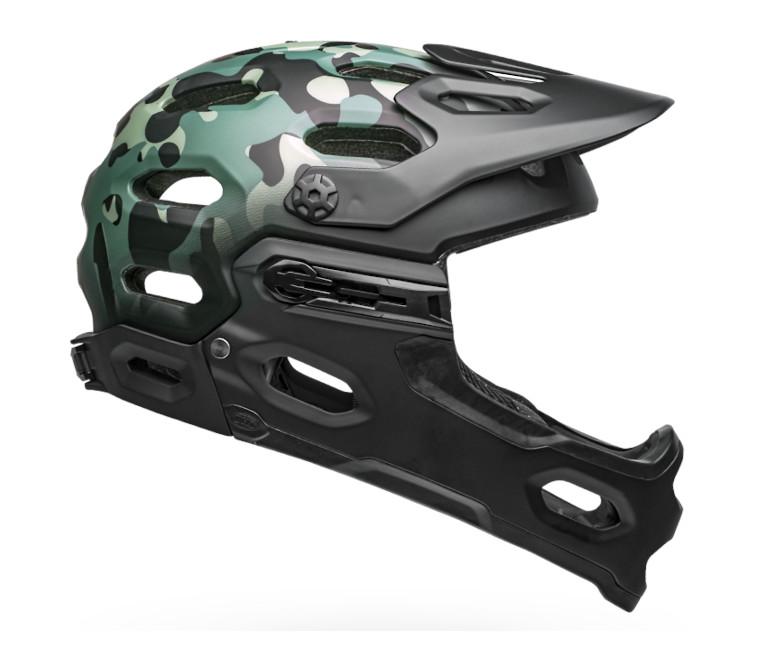 Bell Super 3R MIPS Helmet (Oak Matte Black/Greens)