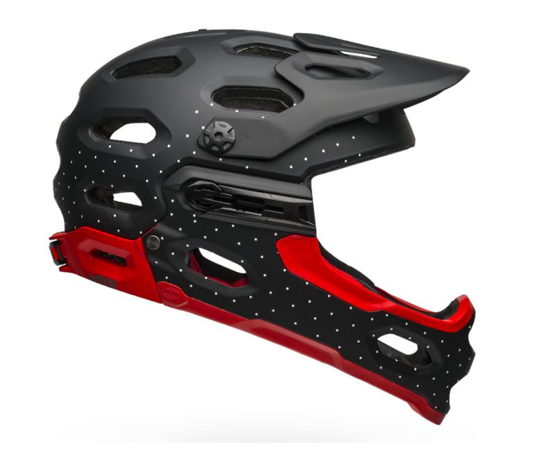 Bell Super 3R MIPS Helmet (Virago Matte/Gloss White/Crimson/Black)