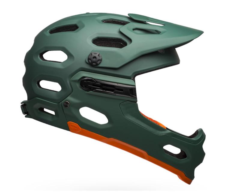Bell Super 3R MIPS Helmet (Matte/Gloss Green/Orange)