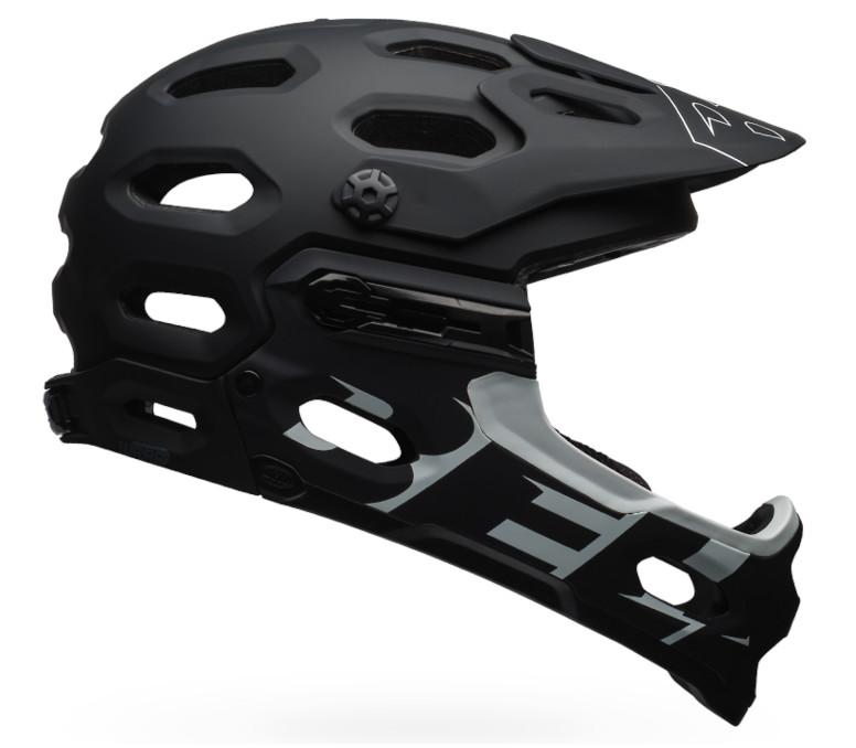 Bell Super 3R MIPS Helmet (Matte Black/White)