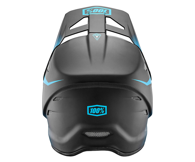 Giant 100% Status Helmet - matte cyan (rear)