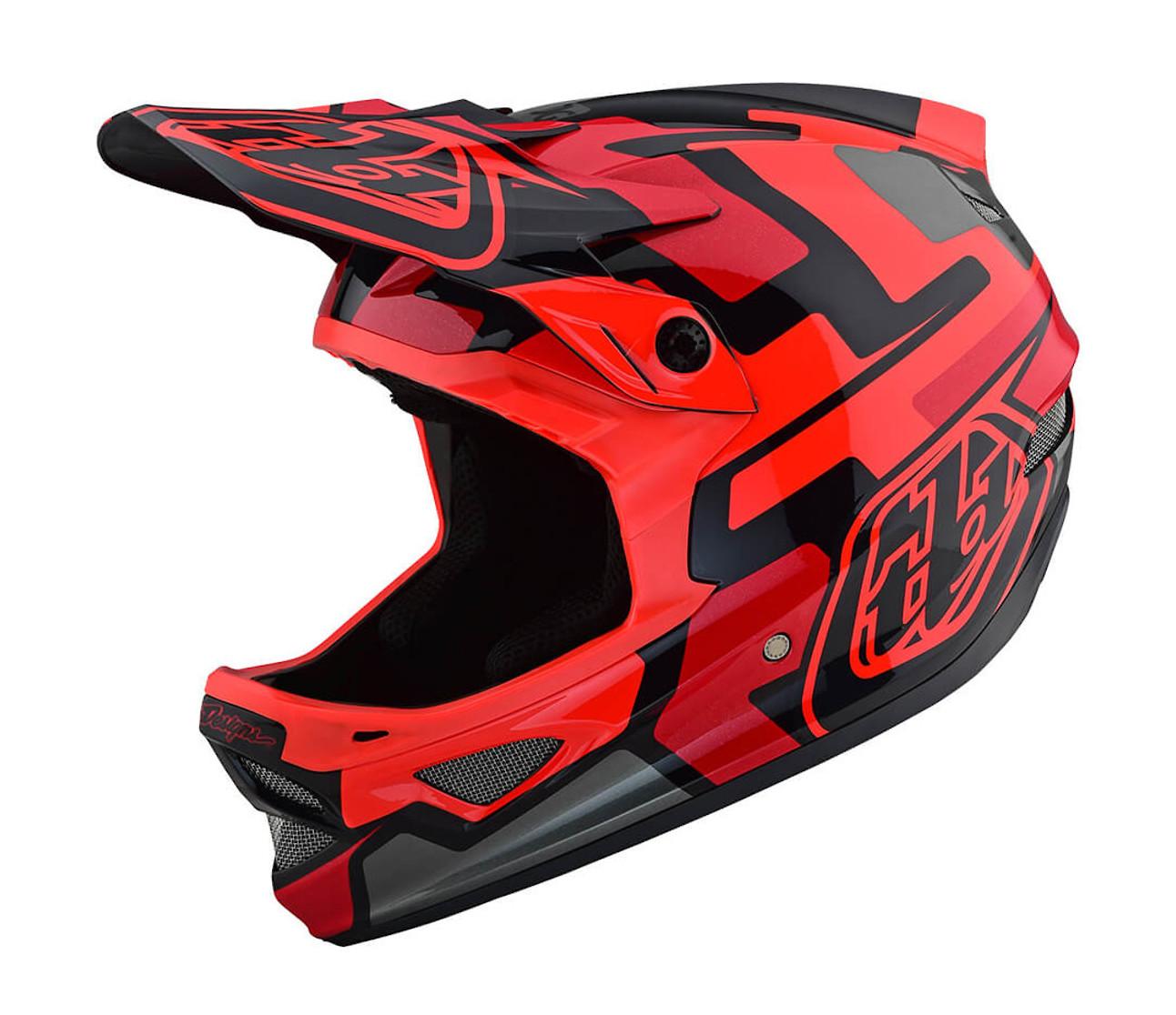 2019 TLD D3 Fiberlite Speedcode Helmet (Red)