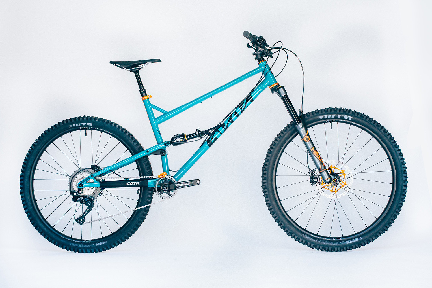2019 Cotic RocketMAX Teal and Tangerine
