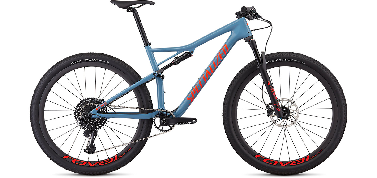 2019 Specialized Epic Men's Expert Storm Grey and Red