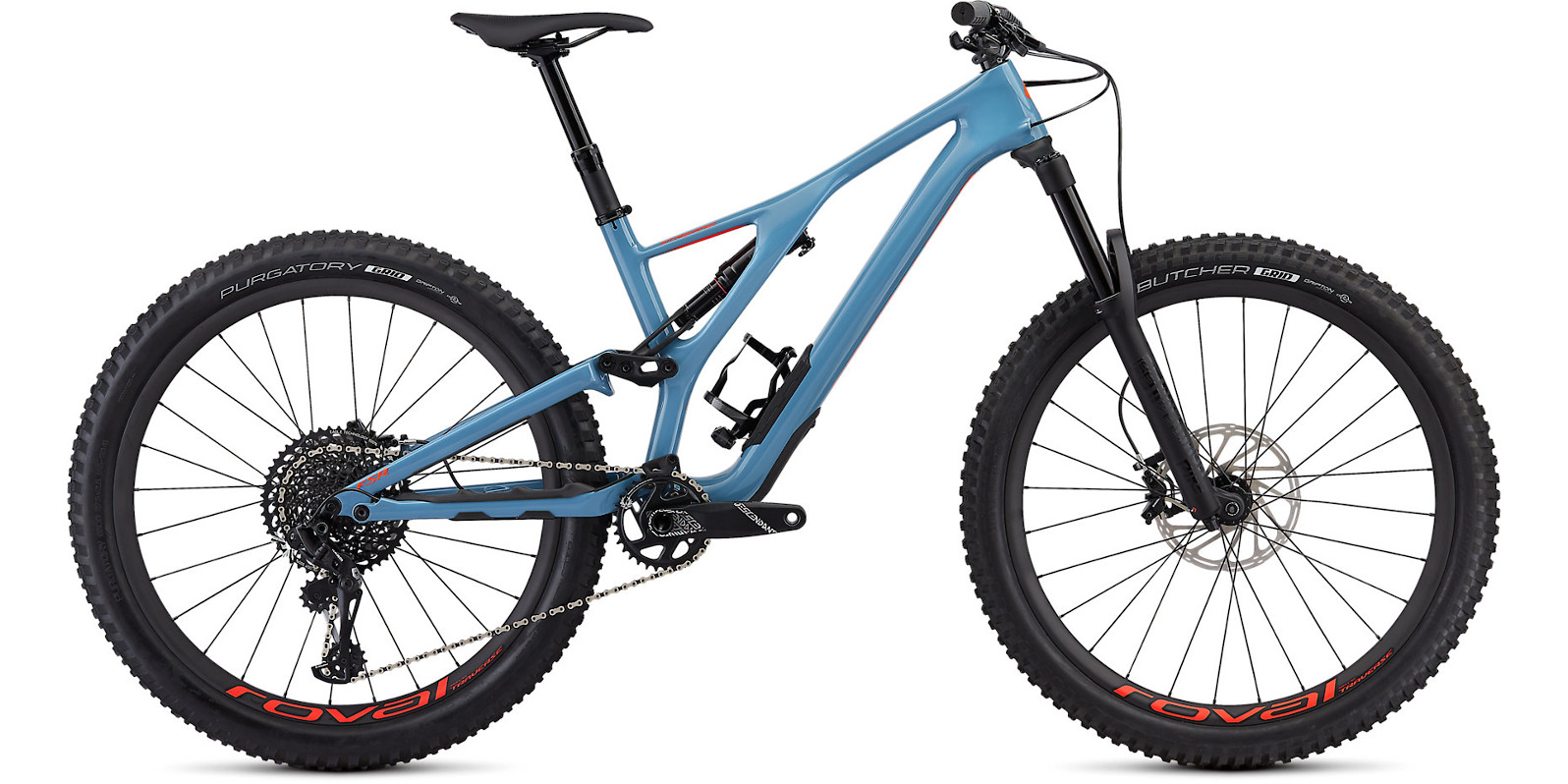 2019 Specialized Stumpjumper Expert 27.5 Gloss Storm Grey Rocket Red