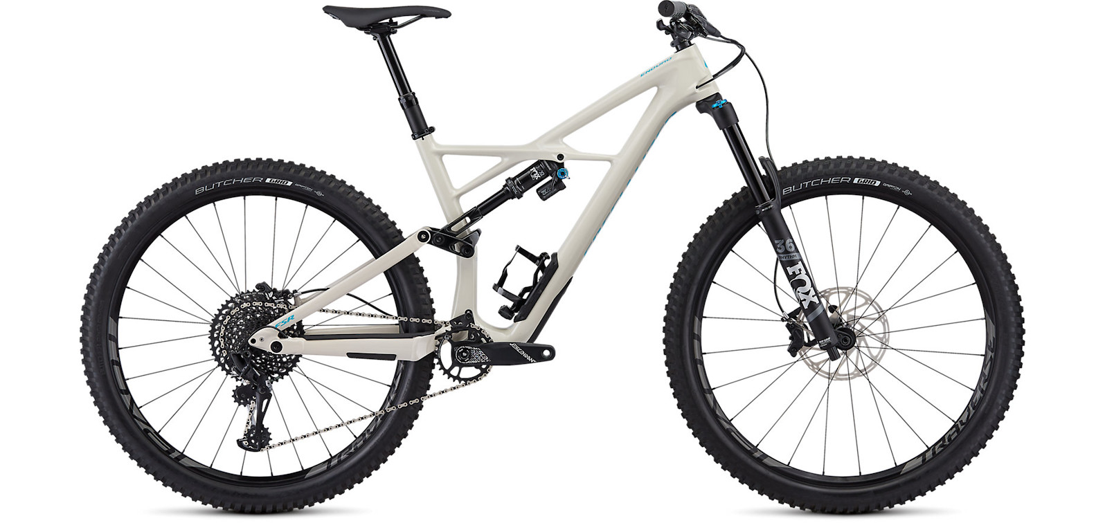 2019 Specialized Enduro Elite 29 Gloss White Mountain Nice Blue