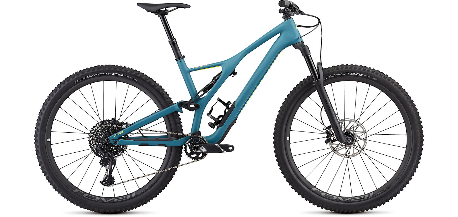 2019 Specialized Stumpjumper ST Expert 29 Satin Dusty Turquoise Team Yellow