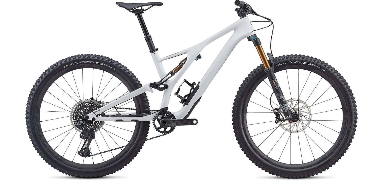 2019 Specialized Stumpjumper ST S-Works 27.5 Gloss White Cool Grey