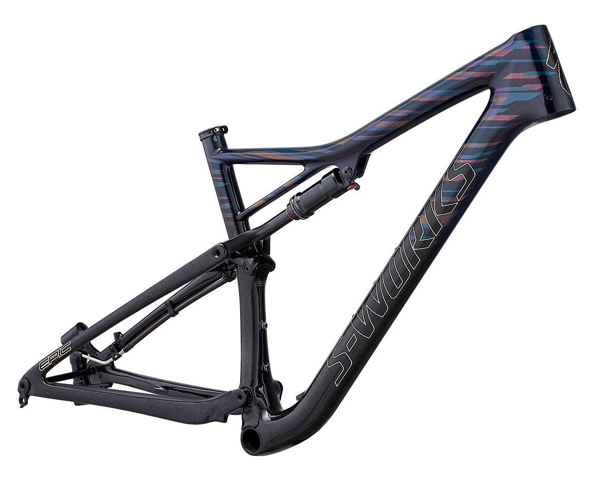 2019 Specialized Epic S-Works Frame LTD Gloss Teal Tint Red Flake Tint Cosmic Black