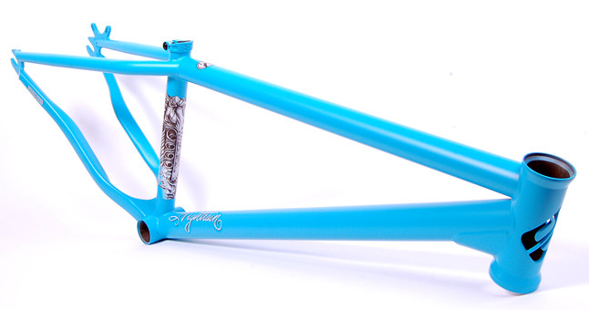Frame Nightrain Matte Hot Blue Angled LoRes