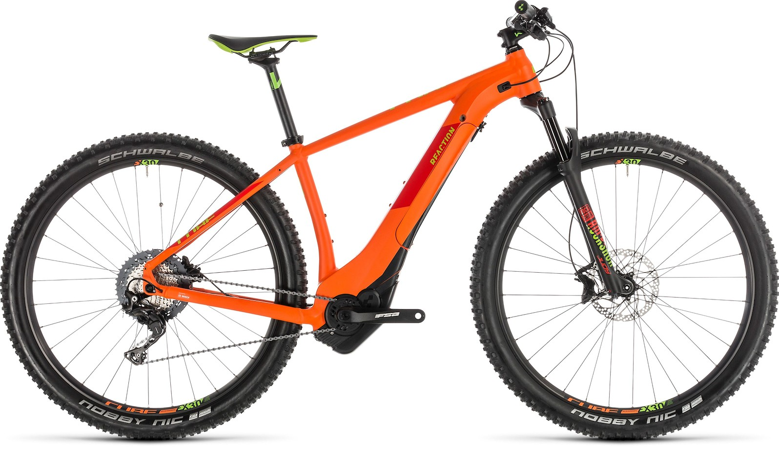 2019 Cube Reaction Hybrid SL 500 in orange'n'green