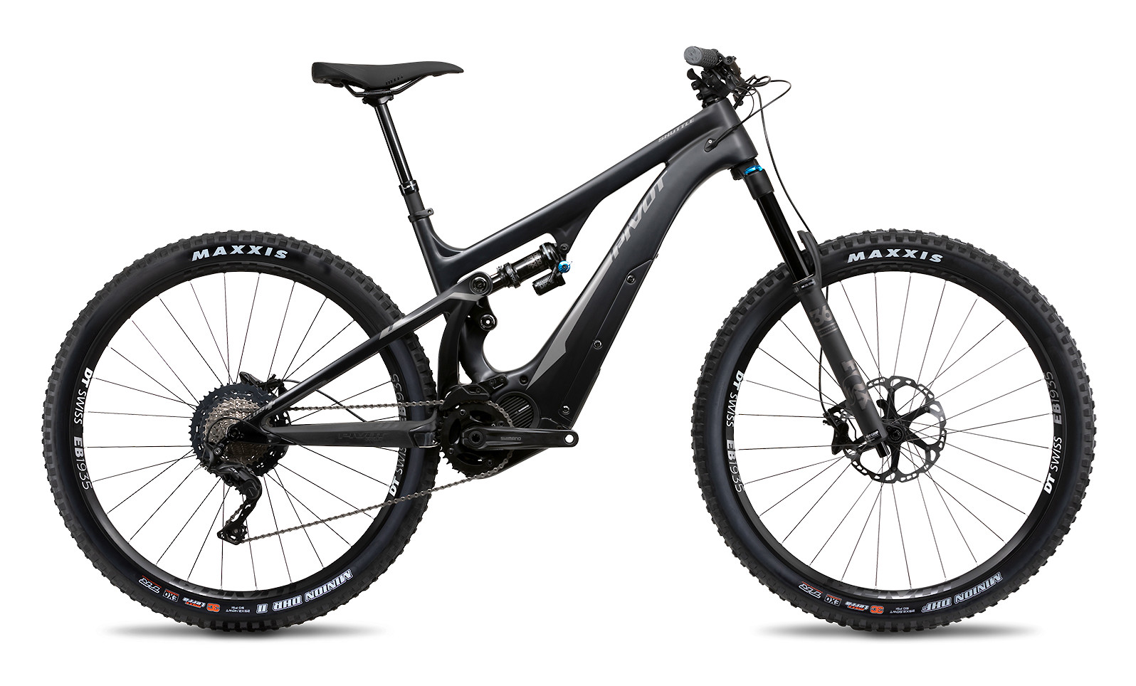 2020 Pivot Shuttle in Black with Sterling Silver (Race XT build pictured)
