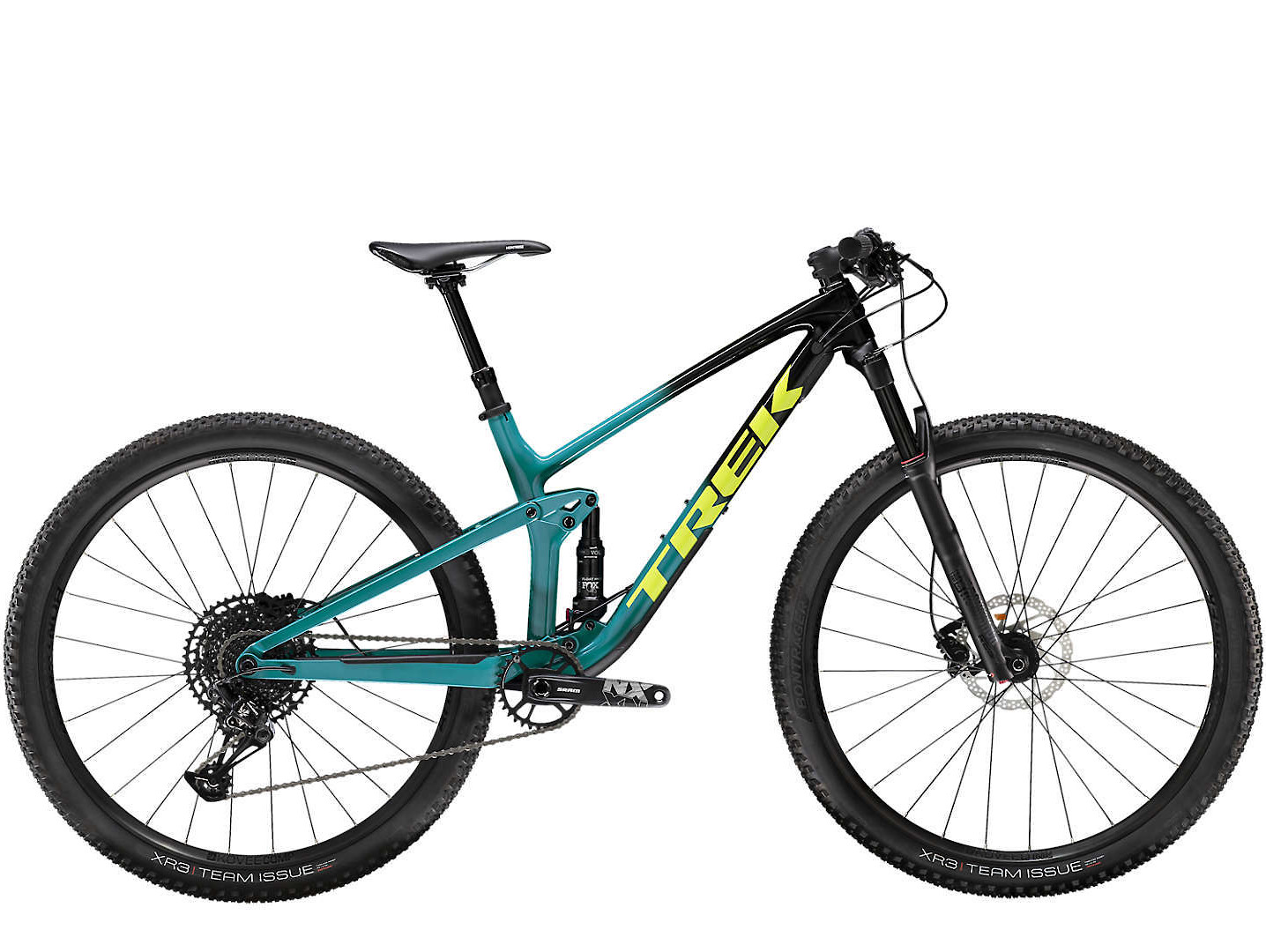 2020 Trek Top Fuel 9.7 in Trek Black to Teal Fade