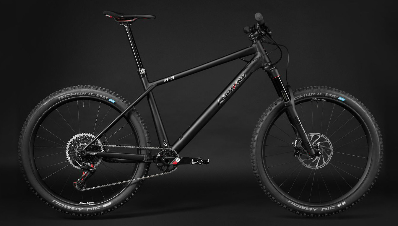 2019 Liteville H-3 Mk3 in Race Black anodized (SRAM Eagle X01 build pictured)
