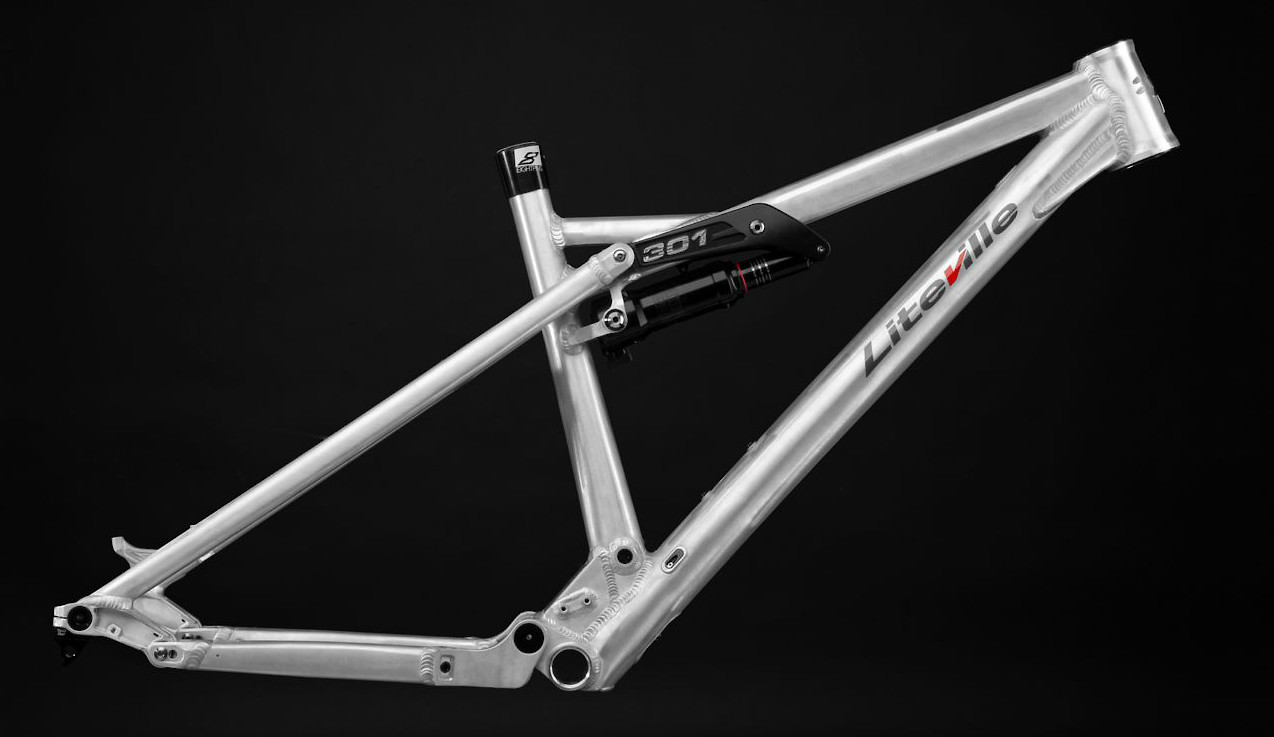 Liteville 301 Mk15 frame in Worksfinish (shown with optional seatpost)