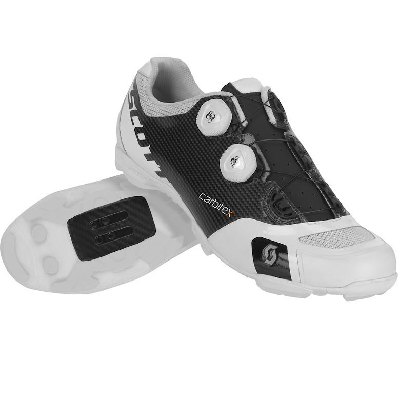 Scott RC SL clipless shoe in Matte black/Gloss white