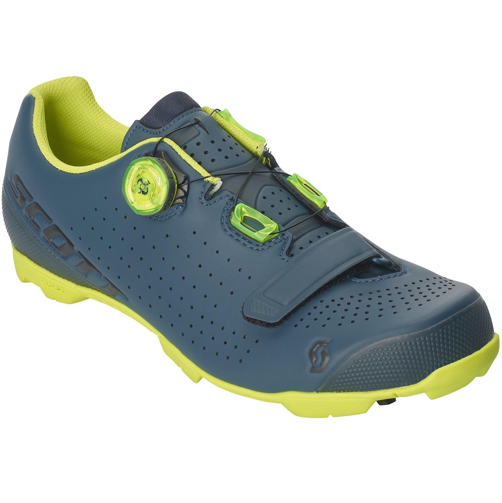 Scott Vertec Boa shoe in nightfall blue/neon yellow